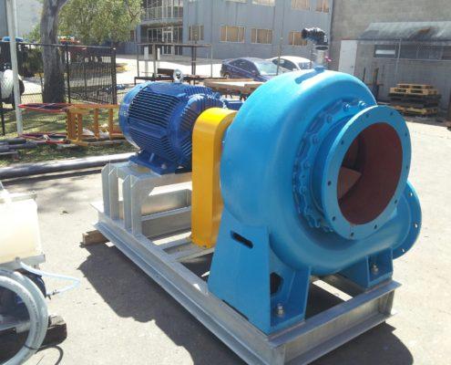 Pump base and motor