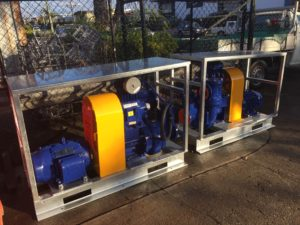 Pump set and base