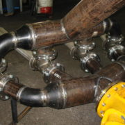 Pipework for submersible pump